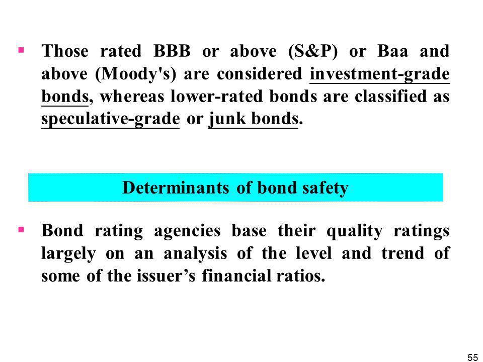 Determinants of bond safety