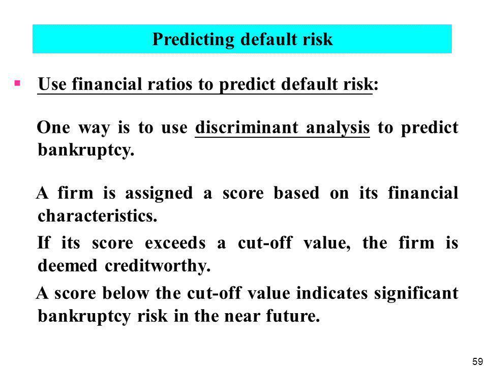Predicting default risk