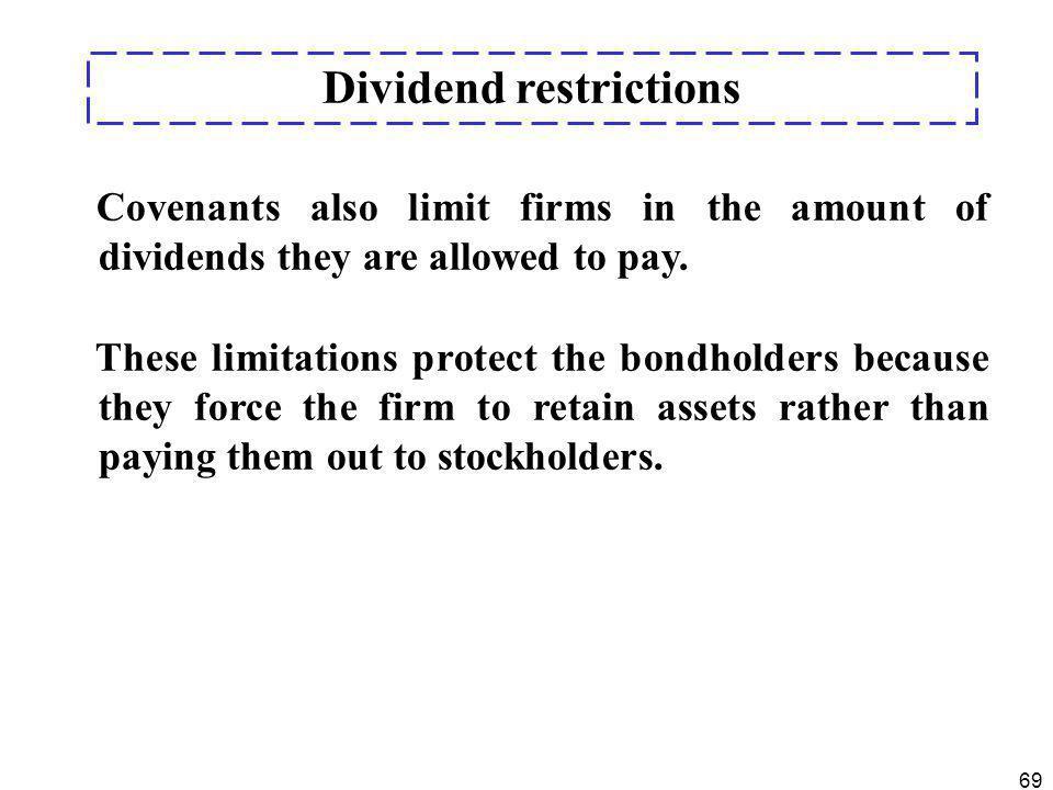 Dividend restrictions