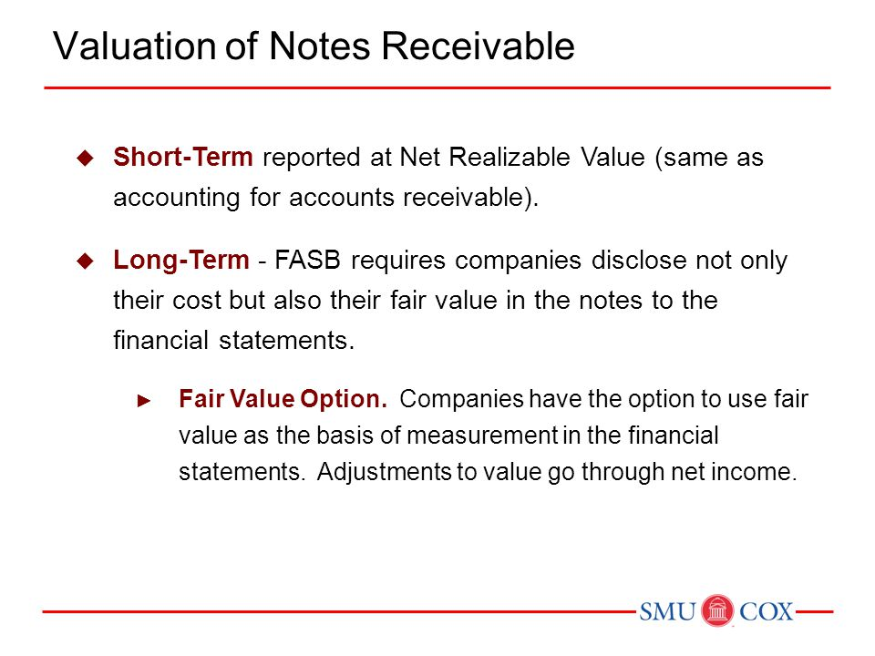 Valuation of Notes Receivable