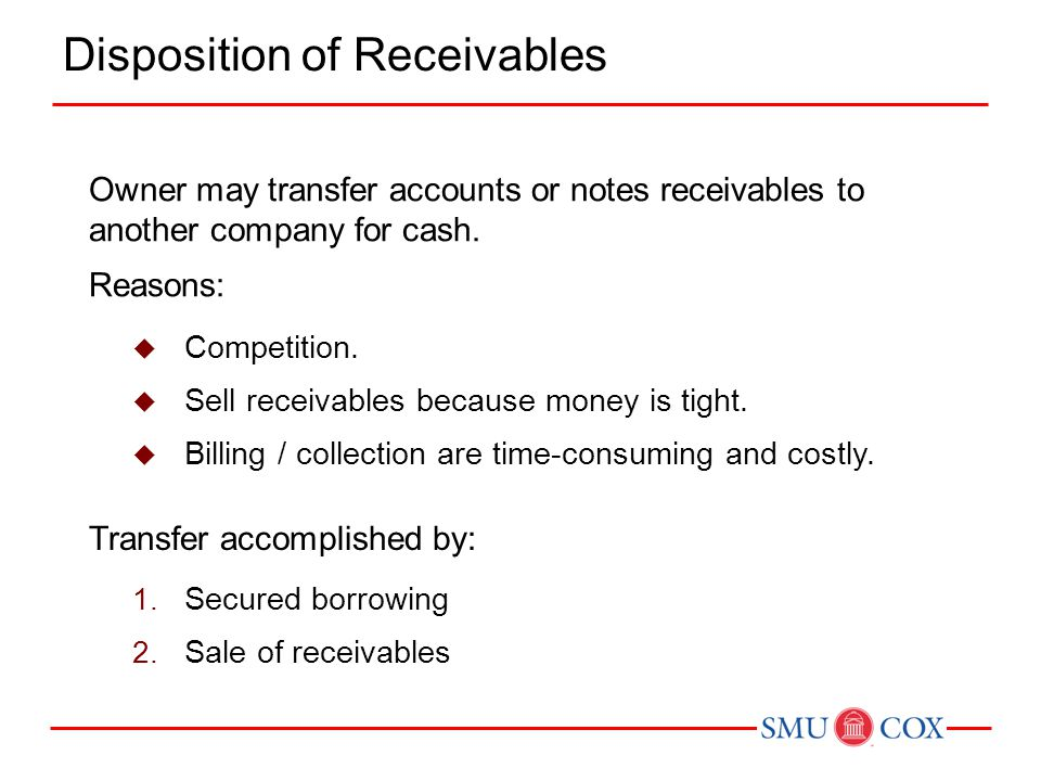 Disposition of Receivables