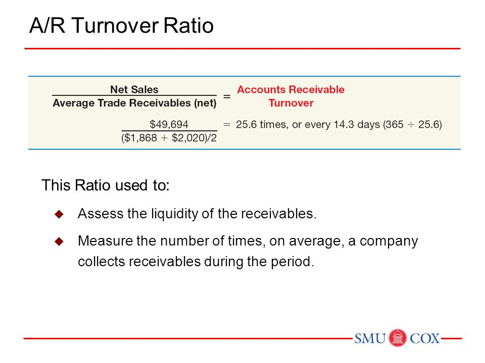 A/R Turnover Ratio This Ratio used to: