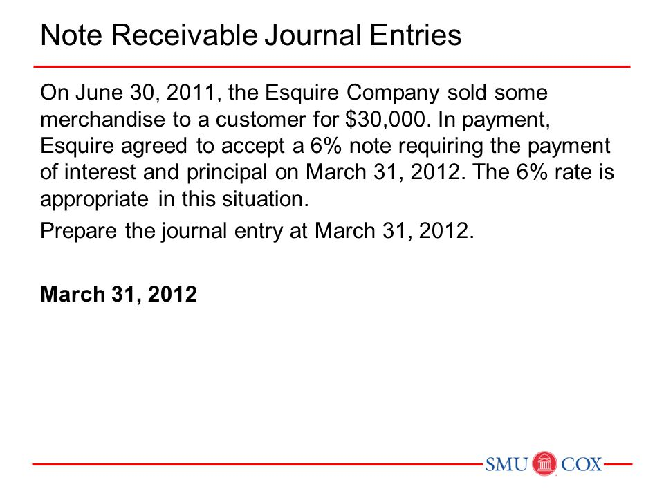Note Receivable Journal Entries