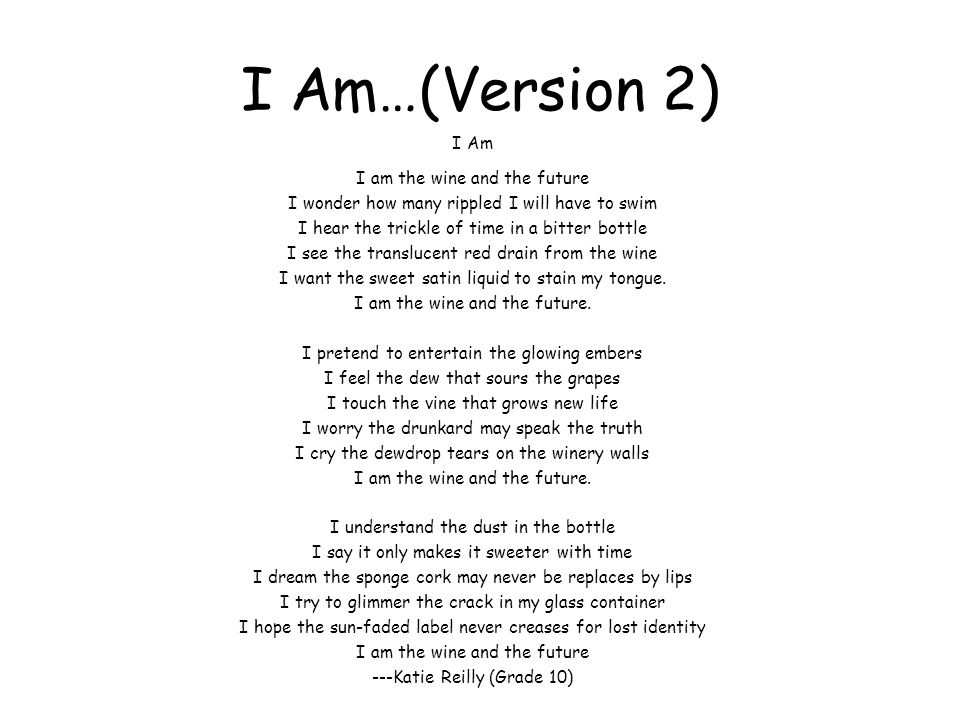 I Am…(Version 2)