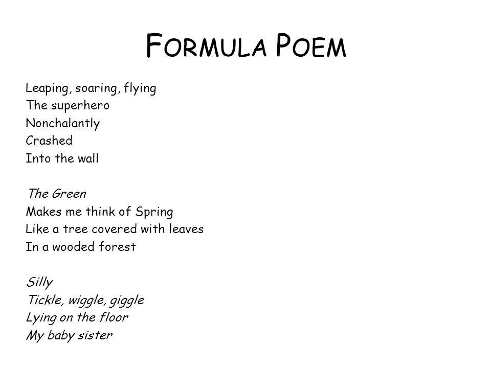 Formula Poem