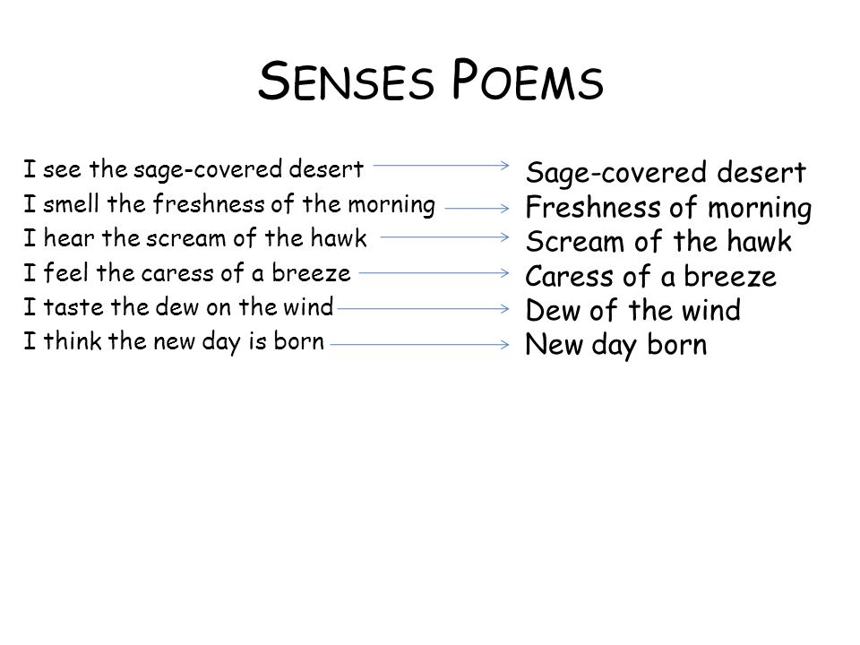 Senses Poems Sage-covered desert Freshness of morning