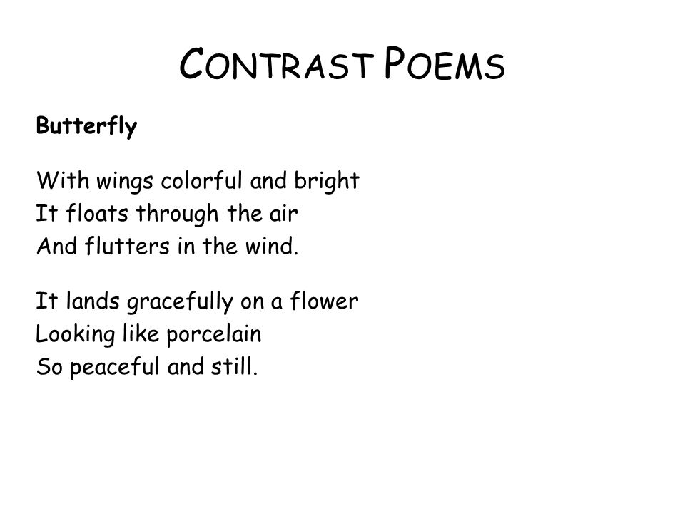 Contrast Poems