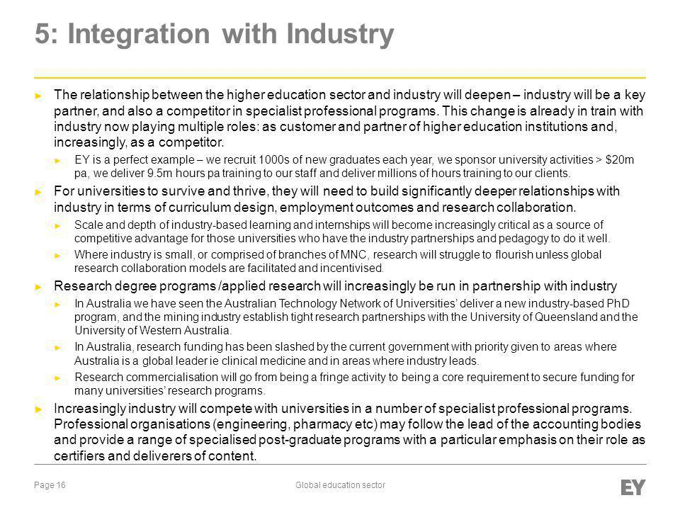 5: Integration with Industry