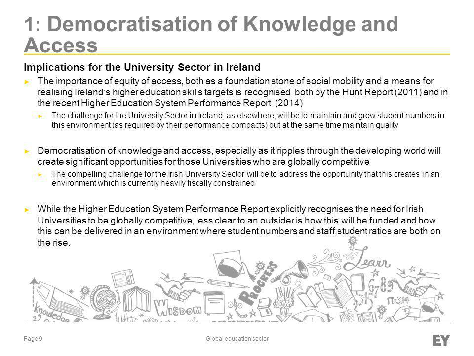 1: Democratisation of Knowledge and Access