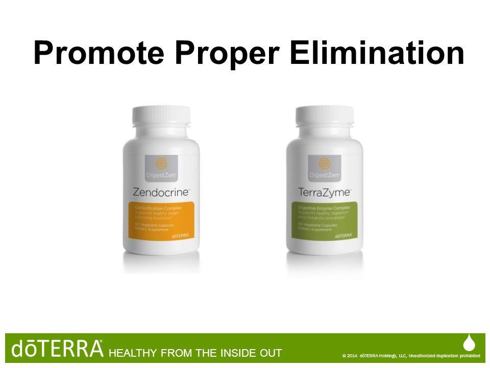 Promote Proper Elimination