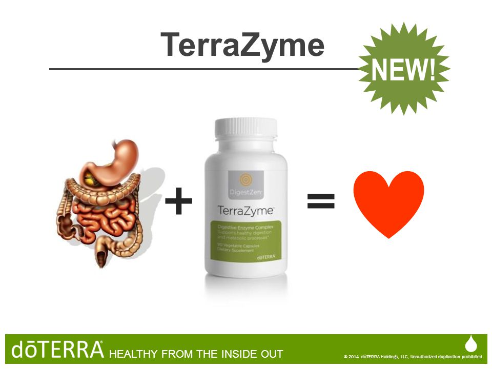 + = TerraZyme NEW!  HEALTHY FROM THE INSIDE OUT