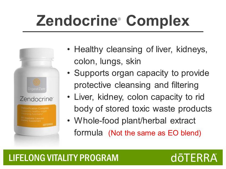 Zendocrine® Complex LIFELONG VITALITY PROGRAM
