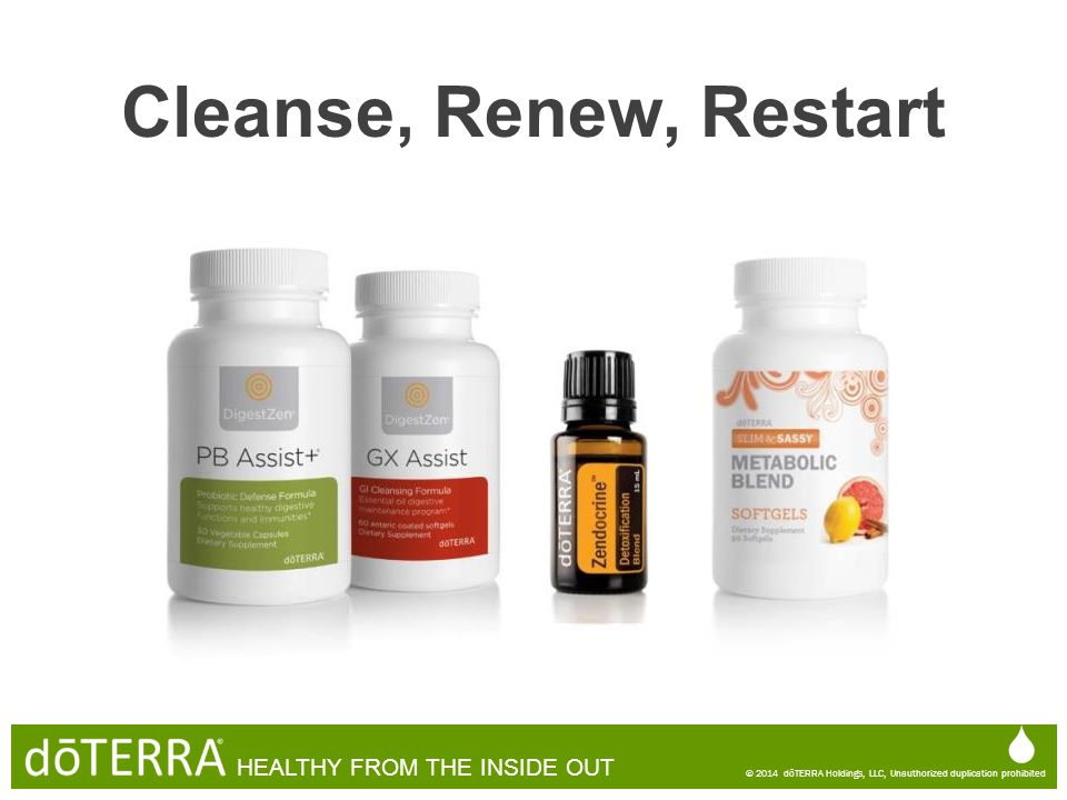 Cleanse, Renew, Restart   HEALTHY FROM THE INSIDE OUT