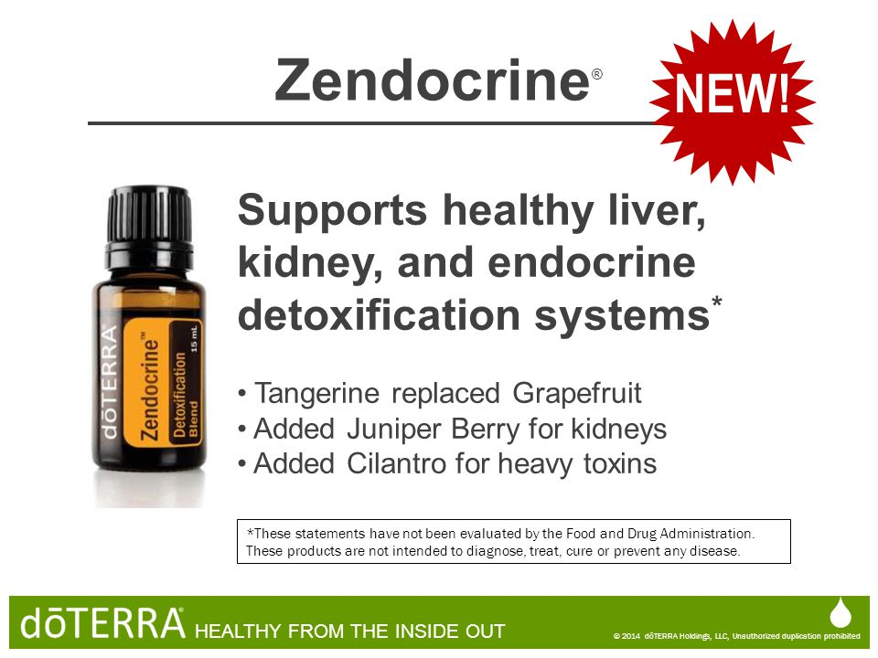 NEW! Zendocrine® Supports healthy liver, kidney, and endocrine detoxification systems* Tangerine replaced Grapefruit.