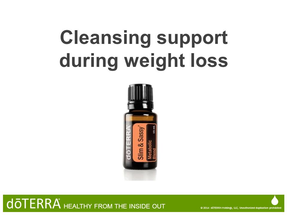 Cleansing support during weight loss