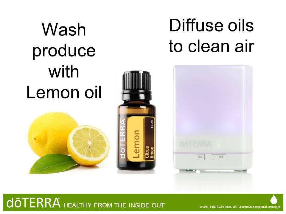 Wash produce with Lemon oil