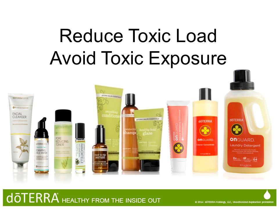 Reduce Toxic Load Avoid Toxic Exposure   HEALTHY FROM THE INSIDE OUT