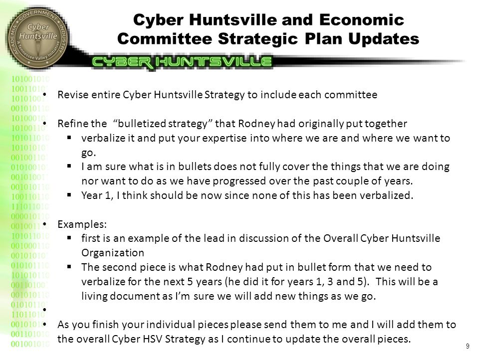 Economic Committee Strategy (Draft)(1 of 6)