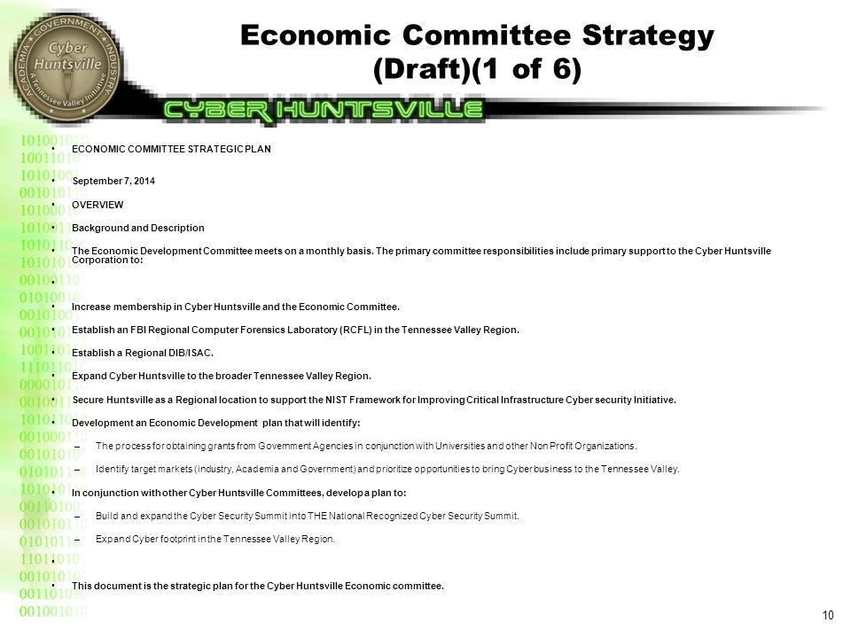 Economic Committee Strategy (Draft)(2 of 6)