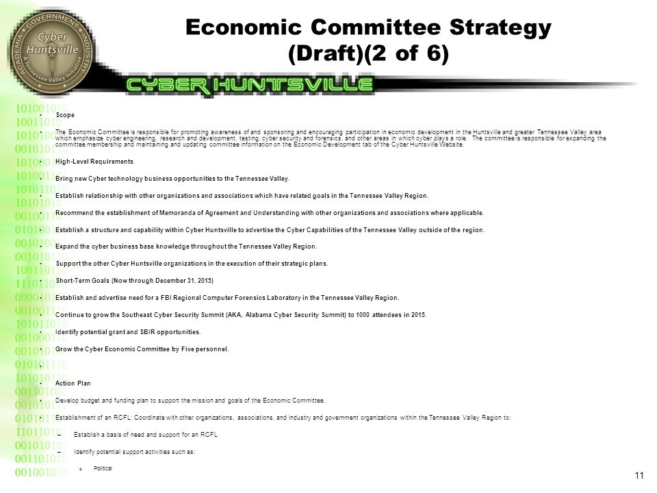 Economic Committee Strategy (Draft)(3 of 6)