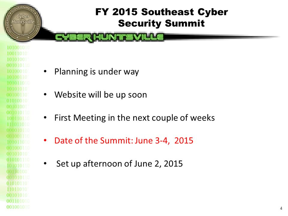 2015 Southeast Cyber Security Summit Committee Organization (Draft)