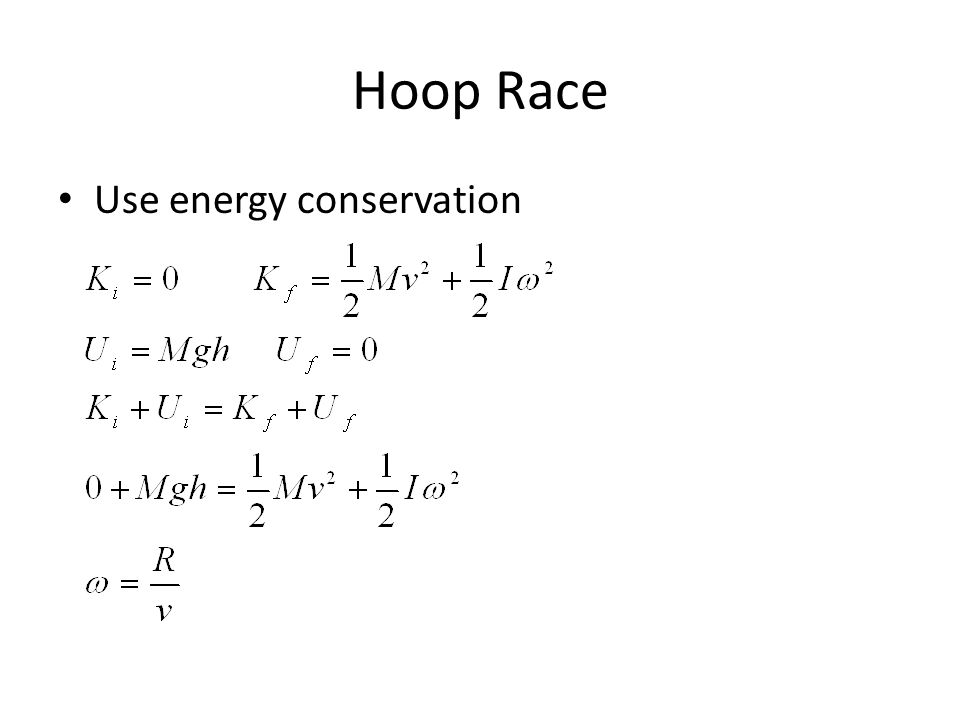Hoop Race Use energy conservation