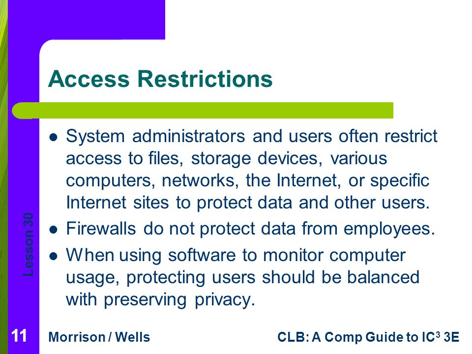Access Restrictions