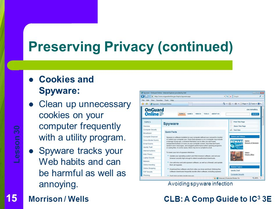 Preserving Privacy (continued)
