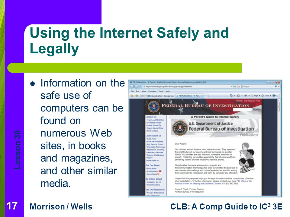 Using the Internet Safely and Legally