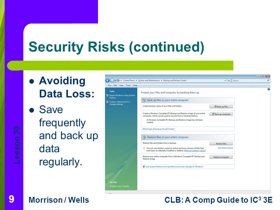 Security Risks (continued)