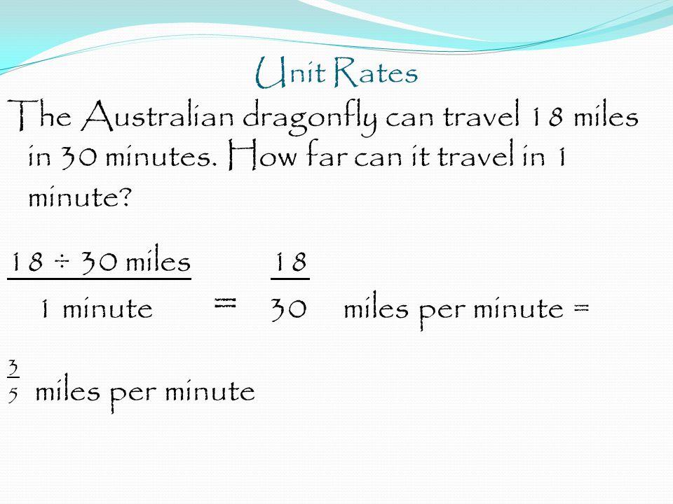 1 minute = 30 miles per minute =