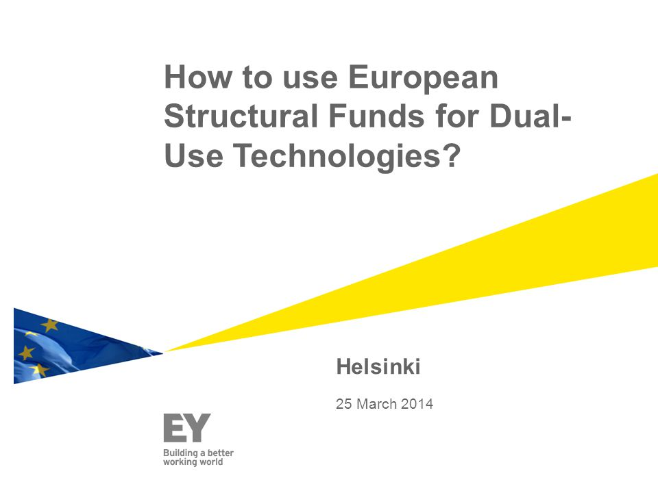 How to use European Structural Funds for Dual-Use Technologies