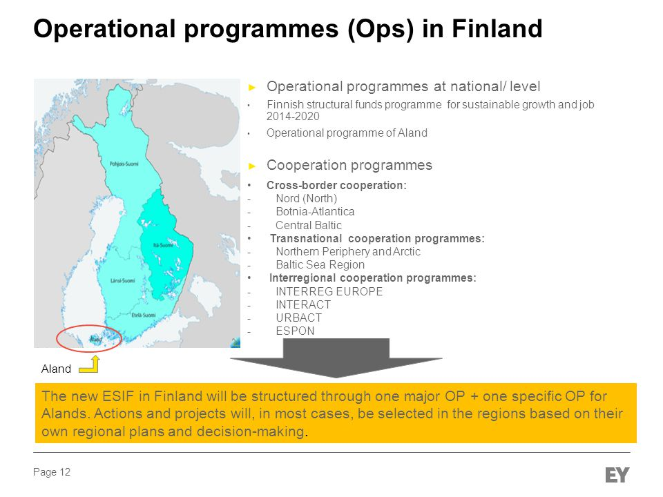 Operational programmes (Ops) in Finland