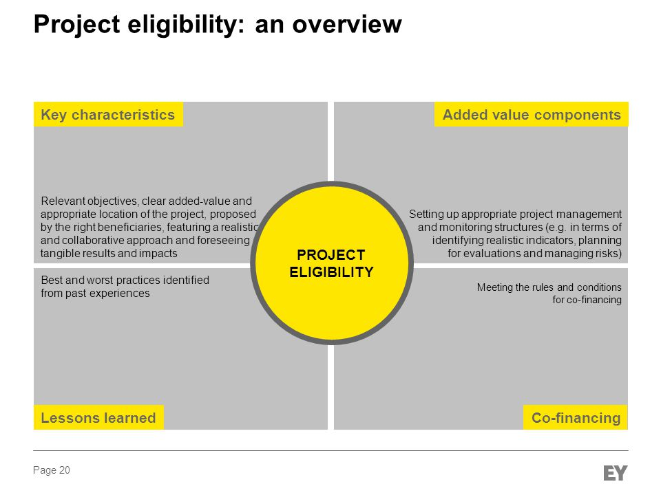 Project eligibility: an overview