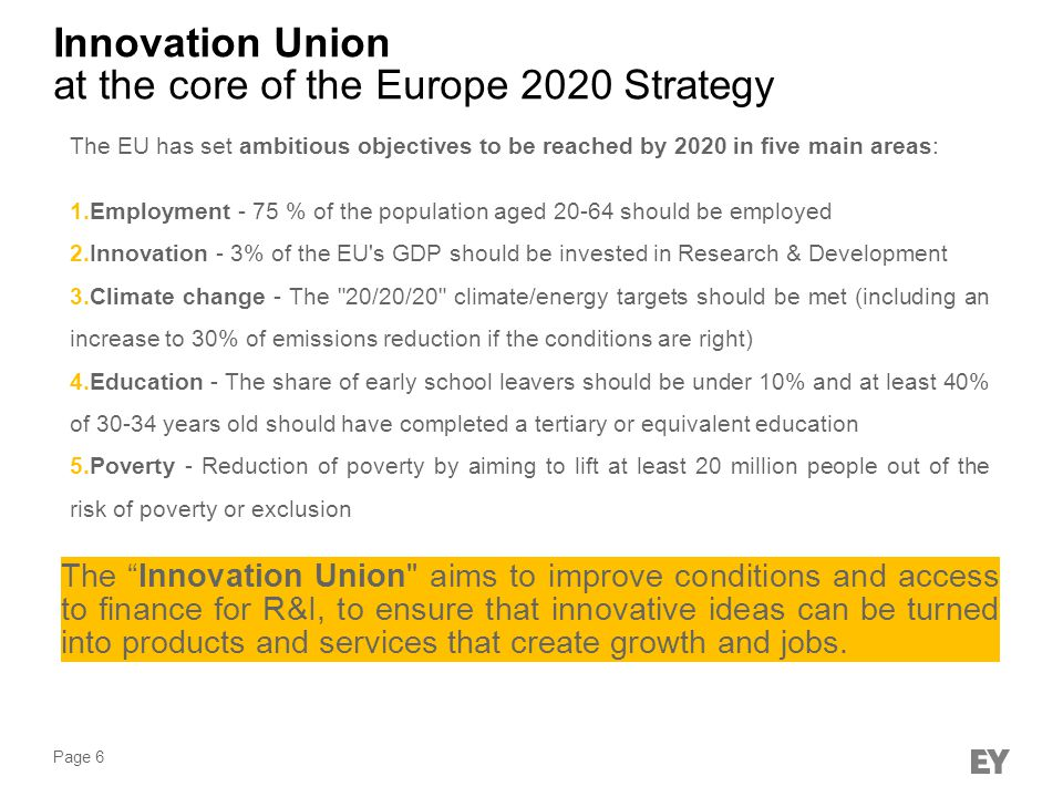 at the core of the Europe 2020 Strategy