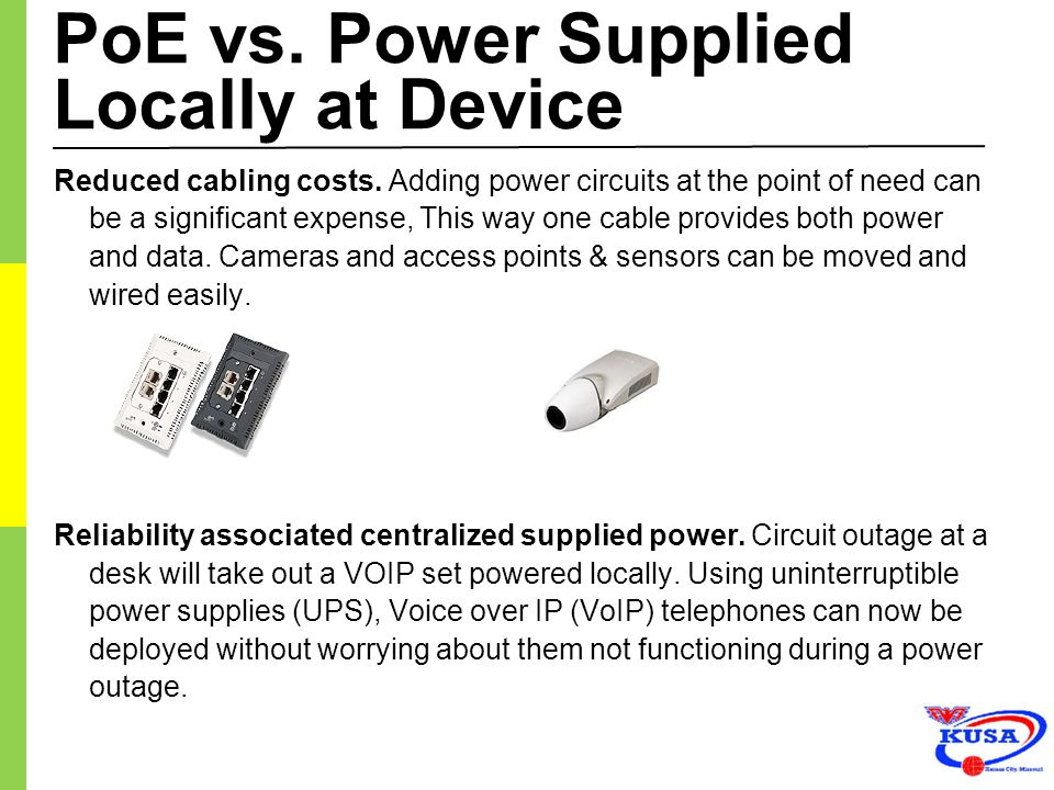 PoE vs. Power Supplied Locally at Device