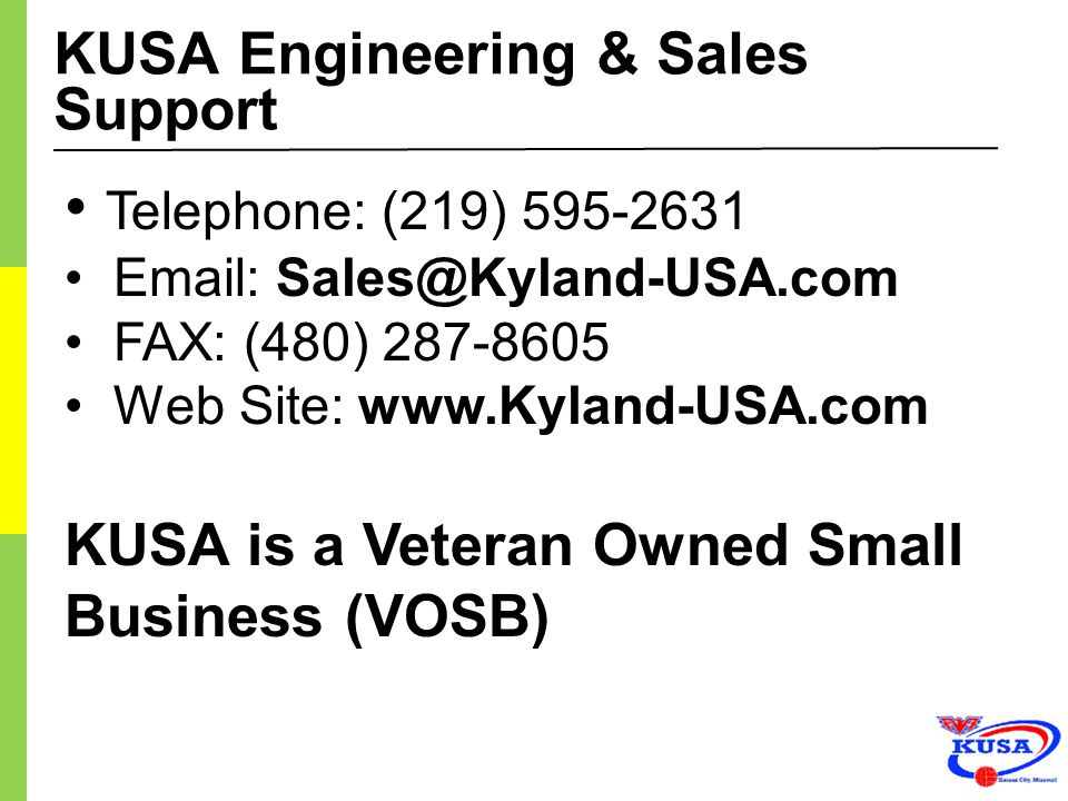 KUSA Engineering & Sales Support