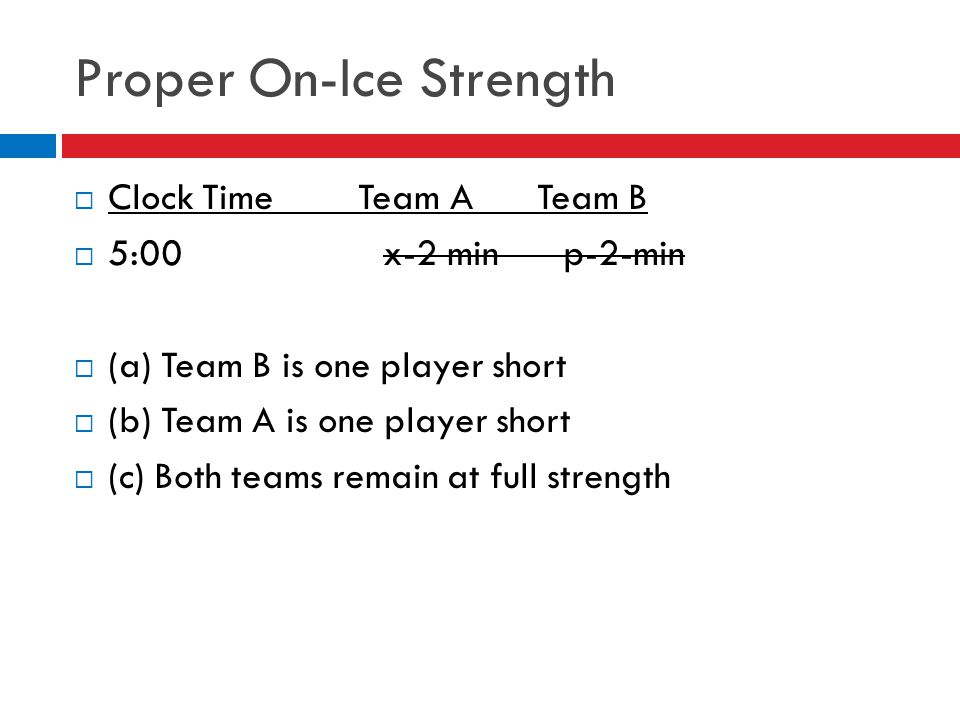 Proper On-Ice Strength