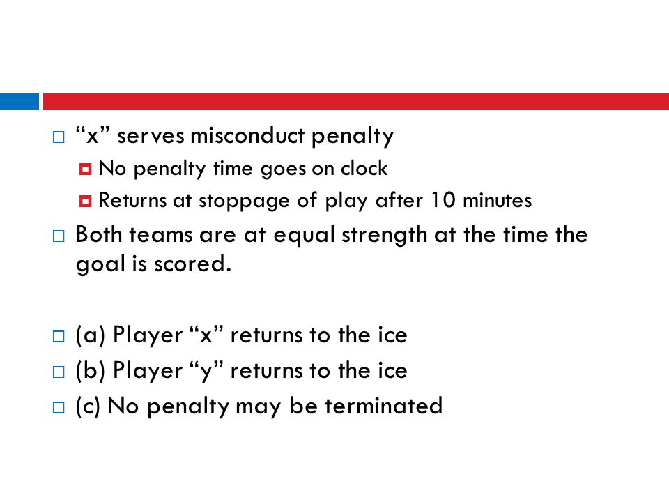 x serves misconduct penalty
