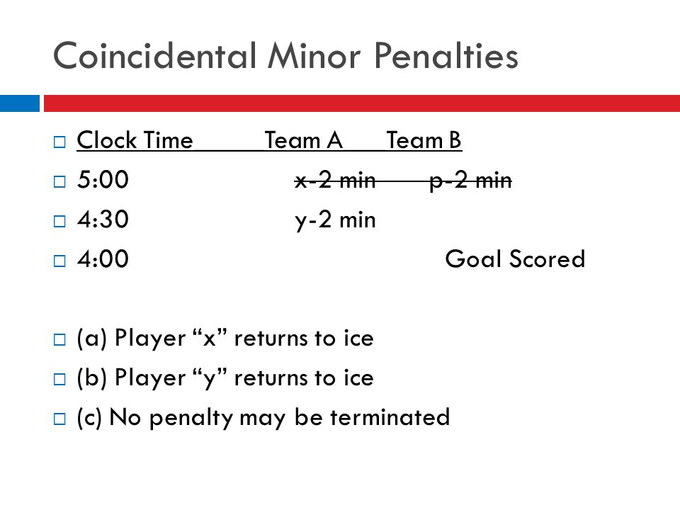 Coincidental Minor Penalties
