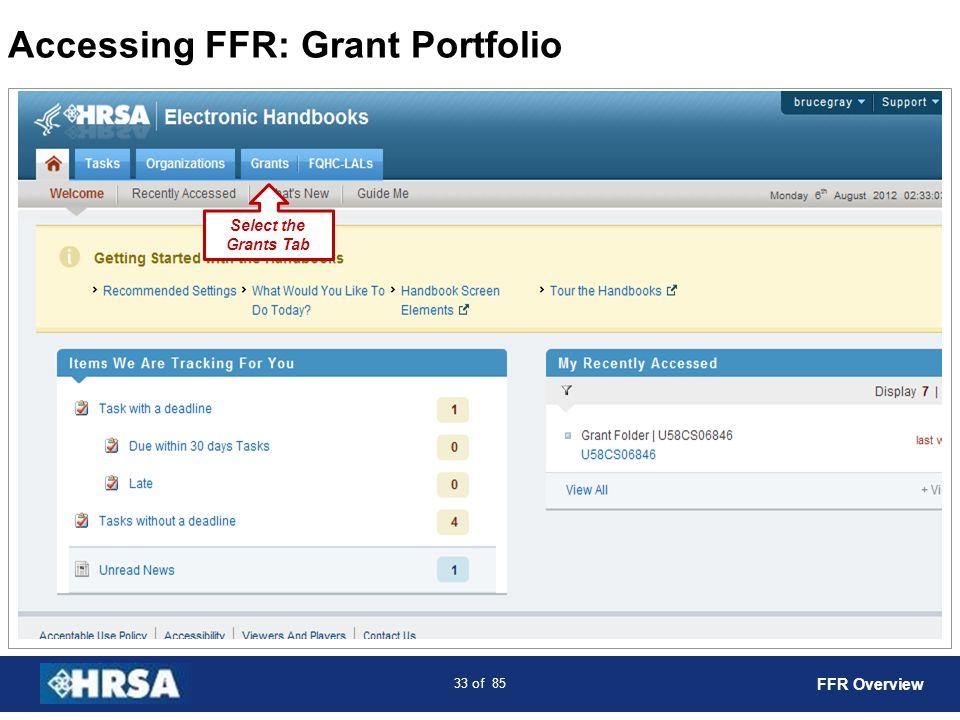 Accessing FFR: Grant Portfolio
