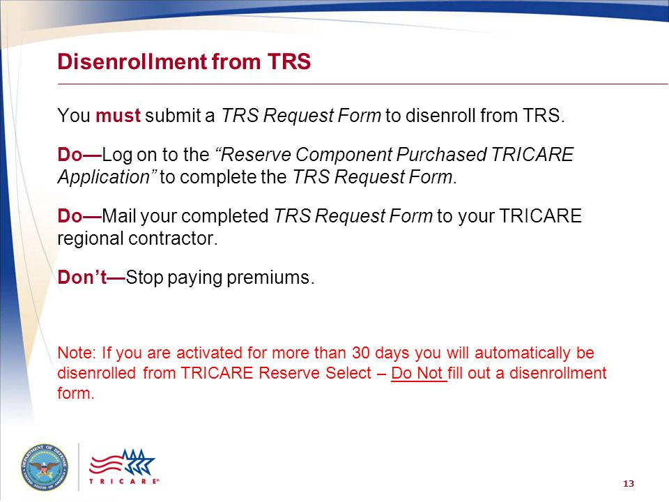 TRICARE® Your Military Health Plan - ppt download
