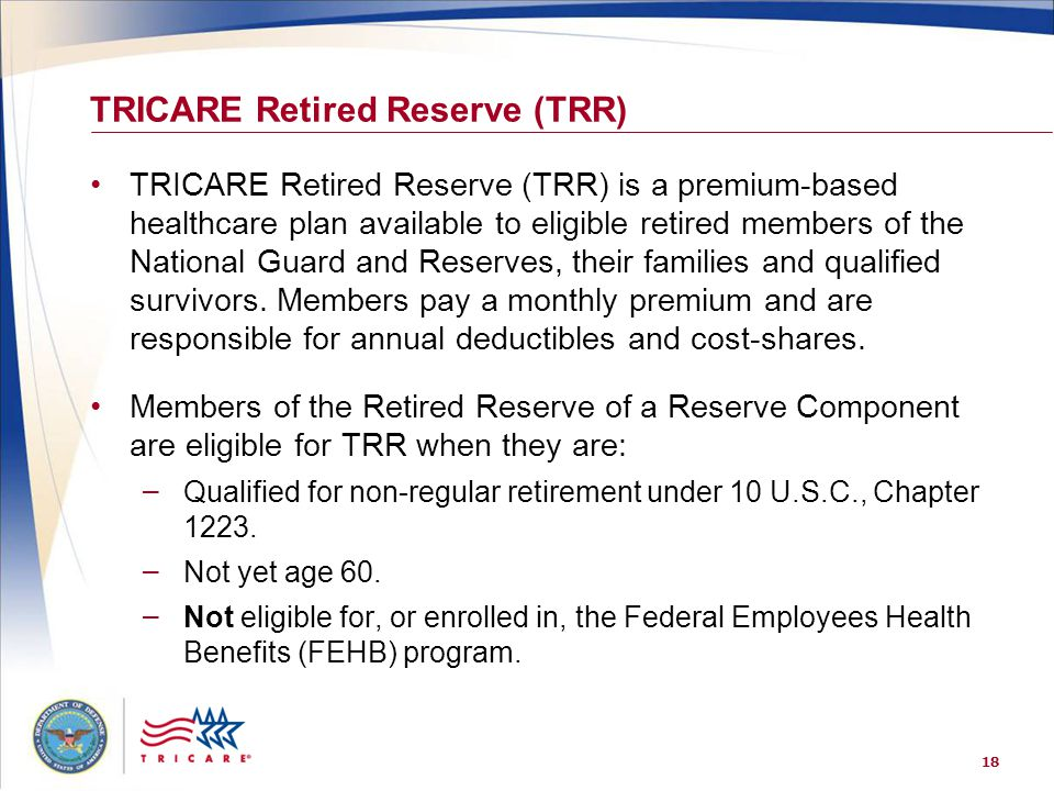 TRICARE Retired Reserve (TRR)