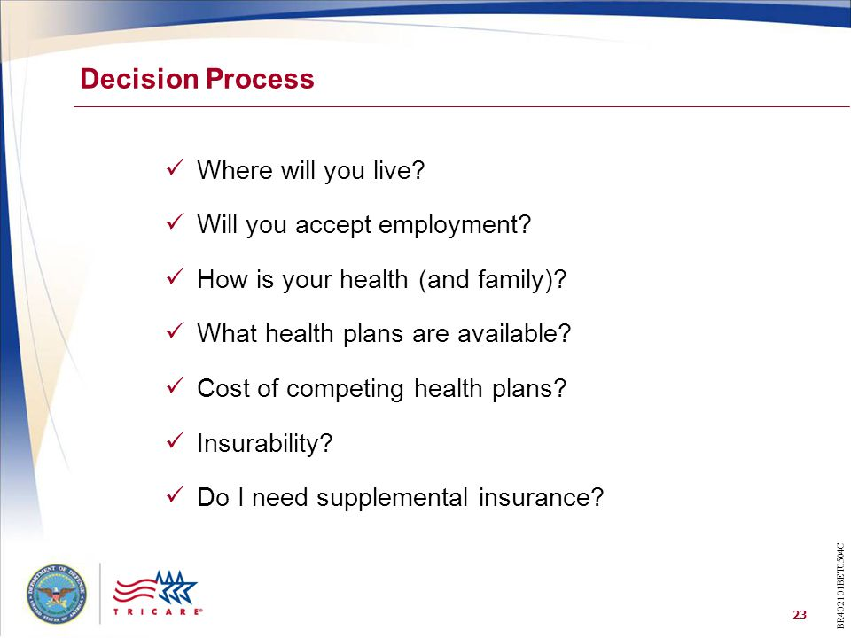 Decision Process Where will you live Will you accept employment