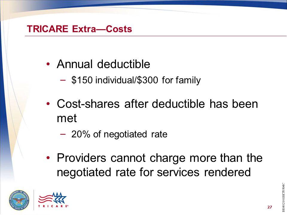 Cost-shares after deductible has been met