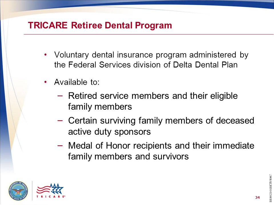 TRICARE Retiree Dental Program