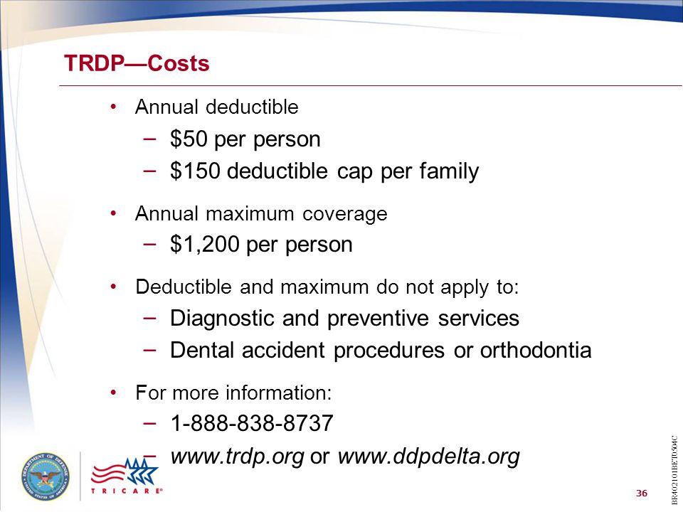$150 deductible cap per family