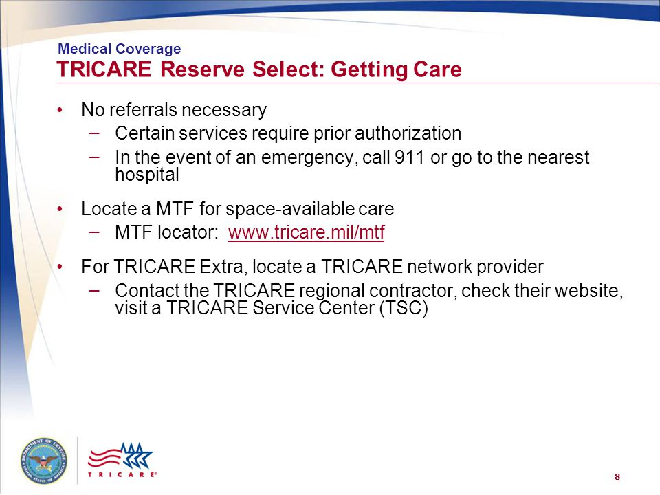 TRICARE Reserve Select: Getting Care