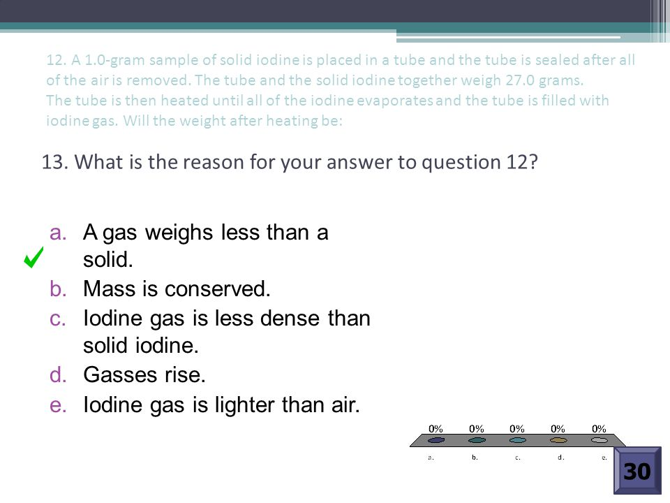 13. What is the reason for your answer to question 12