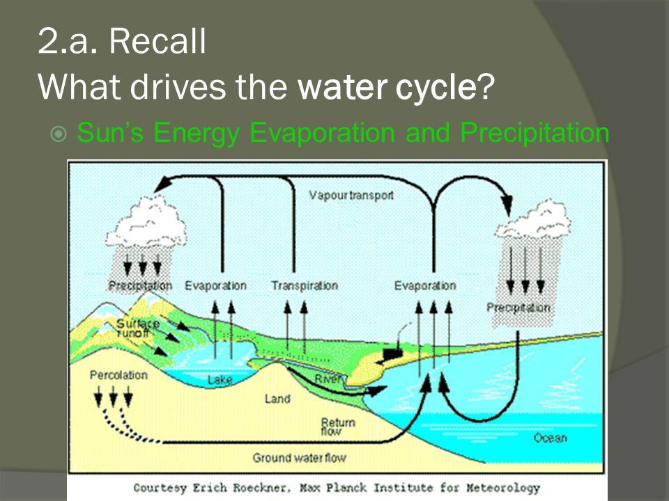2.a. Recall What drives the water cycle